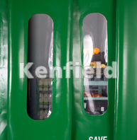 K1550 Insulated Strip Door Curtain: Wipe clean surfaces